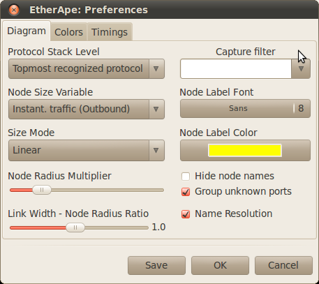 Screenshot-EtherApe: Preferences